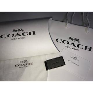 コーチ(COACH)の新品未使用◆COACHコーチ◆マネークリップ お札クリップ 鏡面 黒系 グレー系(マネークリップ)