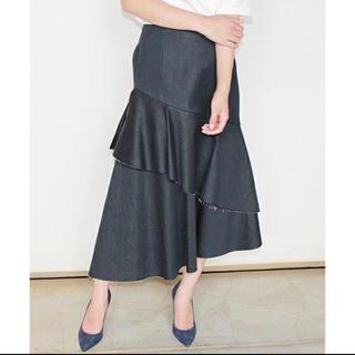 ルシェルブルー(LE CIEL BLEU)のルシェルブルー デニム スカート (ひざ丈スカート)