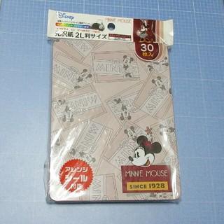 ディズニー(Disney)の缶入り 光沢紙2L判サイズ 30枚「ミニーマウス」(その他)