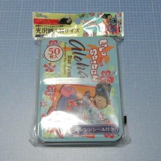 ディズニー(Disney)の缶入り 光沢紙L判サイズ 50枚「リロ&スティッチ」(その他)