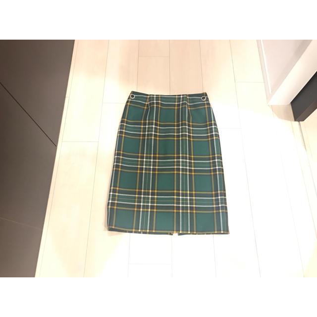 100% authentic 98143 890df BALENCIAGA バレンシアガ★タータンチェック スカート 緑系 34 新品