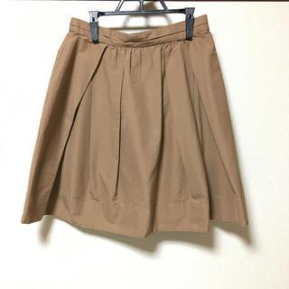 デミルクスビームス(Demi-Luxe BEAMS)のBEAMS Demi-Luxe ベージュスカート(ひざ丈スカート)