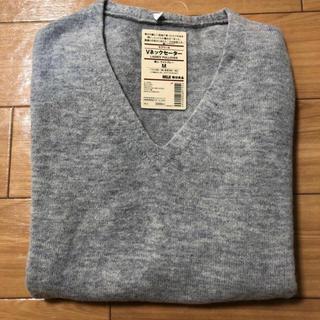 ムジルシリョウヒン(MUJI (無印良品))の無印 Vネックセーター ヤクウール 新品(ニット/セーター)