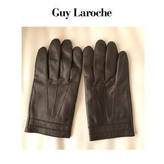 ギラロッシュ(Guy Laroche)のギラロッシュ★革  グローブ   手袋    ダークブラウン(手袋)