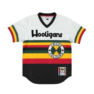 クロスカラーズ(CROSS COLOURS)のフーリガンズ ベースボールシャツ M(シャツ)
