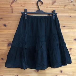 ジネス(Jines)のjines 黒スカート(ひざ丈スカート)