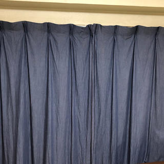 MUJI (無印良品) - 無印良品 綿デニムカーテン 2枚組 100cm×178cm
