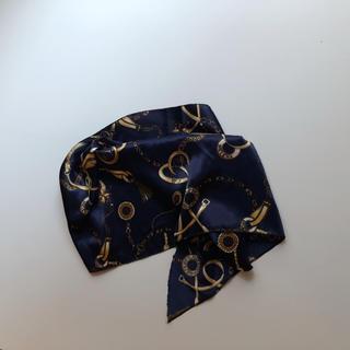 ザラ(ZARA)のscarf  blue(バンダナ/スカーフ)