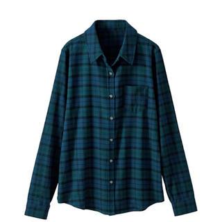 セシール(cecile)のセシール レギュラーシャツ グリーン(シャツ/ブラウス(長袖/七分))