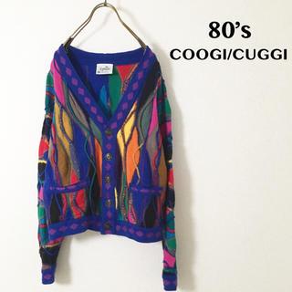 クージー(COOGI)の【美品・希少】80's COOGI/CUGGI  3D ニットカーディガン(ニット/セーター)