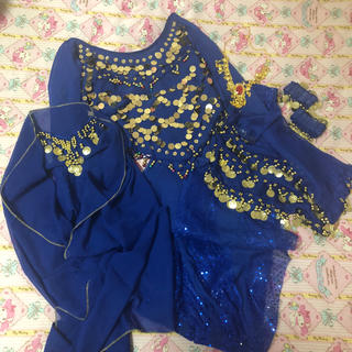 ハロウィン 仮装 アラジン アラビアン パンツ ブルー コスチューム(衣装一式)