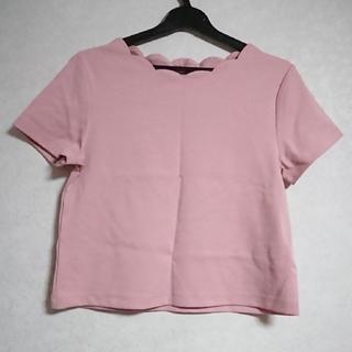 ジーユー(GU)のGU ジーユー スカラップミニTシャツ(Tシャツ(半袖/袖なし))