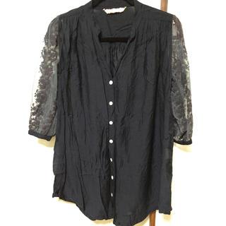 エーアイシー(A・I・C)の袖レースシフォンシャツ(シャツ/ブラウス(長袖/七分))