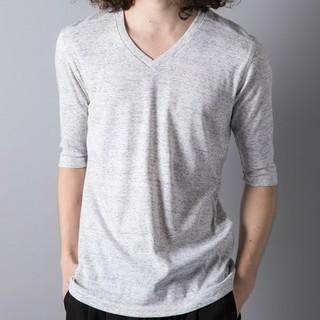 ガルヴァナイズ(Galvanize)の☆galvanize☆杢Vネック5分 Tシャツ(Tシャツ/カットソー(半袖/袖なし))
