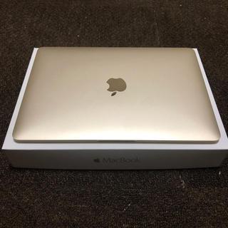 マック(Mac (Apple))のMacBook Early2016 ゴールド(ノートPC)