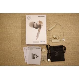 オーディオテクニカ(audio-technica)の【新品同様】audio-technicaイヤホン ATH-CKS550XBT(ヘッドフォン/イヤフォン)