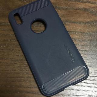 シュピゲン(Spigen)のシュピゲン iPhoneX シリコンケース ネイビー(iPhoneケース)