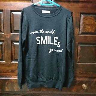 アネラリュクス(ANELALUX)のアンミカさんのブランド【ANELA LUX】のメッセージ入り黒セーター(ニット/セーター)