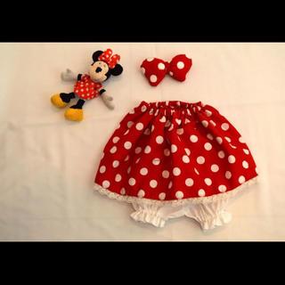 ディズニー(Disney)のミニー スカート 三点セット ハンドメイド(スカート)