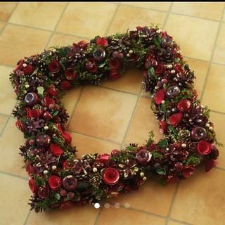 大きなクリスマスリース スクエア 新品(リース)