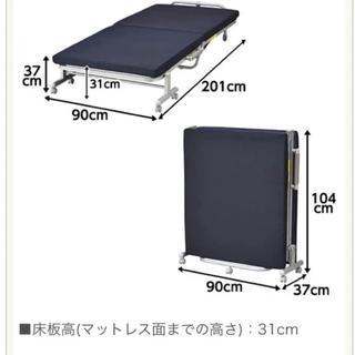 格安 美品シングルベッド(簡易ベッド/折りたたみベッド)