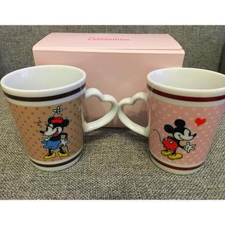 ディズニー(Disney)のミッキー ミニー ペアマグカップ(食器)
