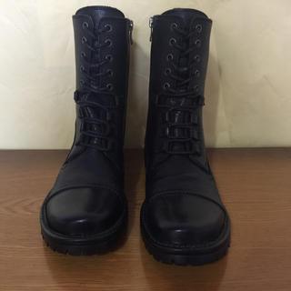 サヤ(SAYA)のサヤ   レースアップショートブーツ     23.5cm(ブーツ)