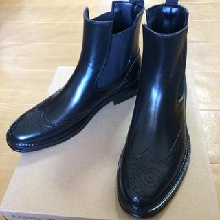 値下 サイドゴア レインブーツ  ショートブーツ 新品 未使用(長靴/レインシューズ)