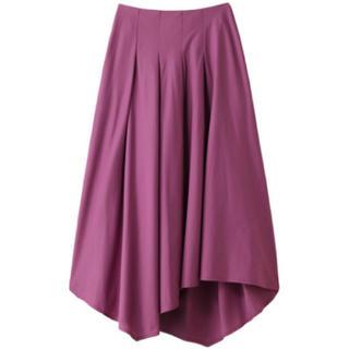 アウラアイラ(AULA AILA)のアウラ イレギュラーヘムロングスカート ピンク(ロングスカート)