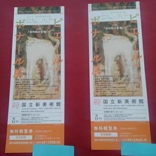 ピエール・ボナール展チケット2枚 国立新美術館 12/3まで(美術館/博物館)