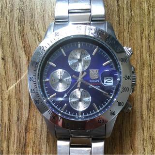 エルジン(ELGIN)のELGIN cronograph メンズ腕時計(腕時計(アナログ))