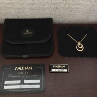 ウォルサム(Waltham)のWALTHAM ウォルサム ダイヤモンド ネックレス K18YG 8.9g(ネックレス)