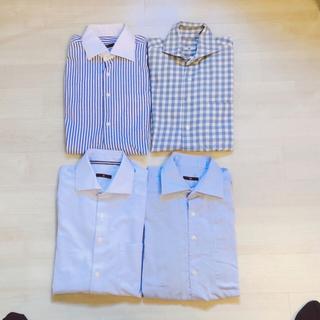 セレクト(SELECT)のスーツセレクト ワイシャツ ブルーM80 4枚セット(シャツ)