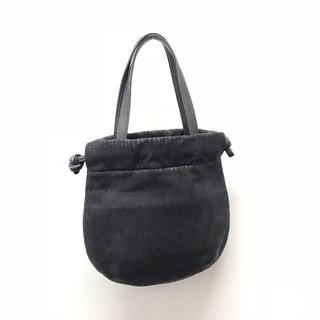 インデンヤ(印傳屋)の【美品】印傳屋 ハンドバッグ 巾着 グレー(A0308O1-5)(ハンドバッグ)