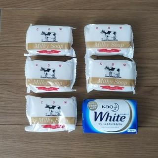 ギュウニュウセッケン(牛乳石鹸)の牛乳石鹸&花王ホワイト(ボディソープ / 石鹸)