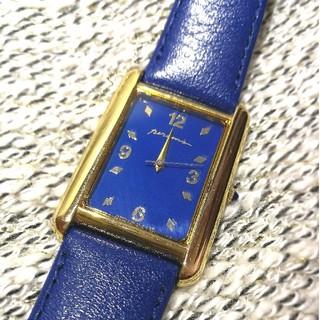 パーソンズ(PERSON'S)の【電池稼働品/ベルト新品】PERSON'S  ゴールド×ブルー 腕時計(腕時計)