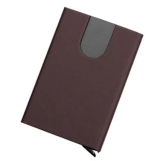 【新品】【スキミング防止】中身が飛び出すカードケース(茶色)(マネークリップ)