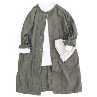 オムニゴッド(OMNIGOD)のOMNIGOD パナマノーカラースリープコート(ノーカラージャケット)