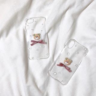 フーズフーチコ(who's who Chico)のくまちゃんiPhoneケース(iPhoneケース)
