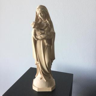 マリア様 木彫り 聖母子像 ウィーン土産(彫刻/オブジェ)