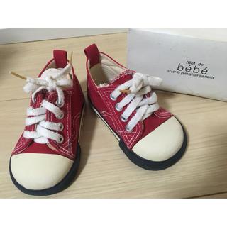 efb4235ea8e25 ベベ(BeBe)の☆bebe べべ スニーカー キッズシューズ 子供靴赤マジックテープ