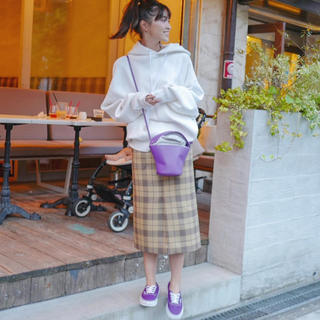 サイ(Scye)のscye  チェックスカート (ひざ丈スカート)