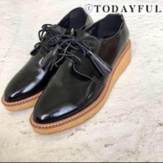 トゥデイフル(TODAYFUL)のTODAYFULタッセルフラットシューズ(ローファー/革靴)
