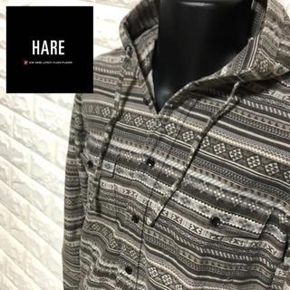 ハレ(HARE)の【美品】HARE ボヘミアン柄エキゾチックパーカーシャツ(パーカー)
