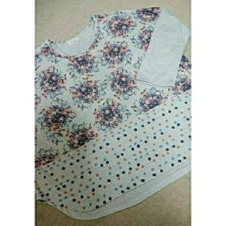 アイーダ(AIDA)の猫と花束のシャツ(難あり)(Tシャツ(長袖/七分))