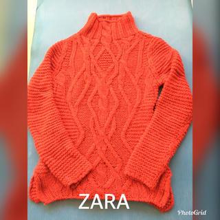 ザラ(ZARA)のZARAニット前アランニット 後ろガーター編み サイズS(ニット/セーター)