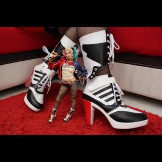 ハーレー ハーレイ クイン クイーン スーサイドスクワット ブーツ 靴 コスプレ(靴/ブーツ)