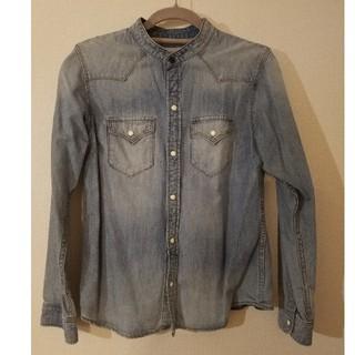 アントゲージ(Antgauge)のANTGAUGE アントゲージ 襟なしデニムシャツ(シャツ/ブラウス(長袖/七分))