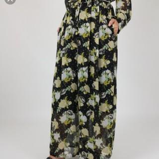 デイシーミー(deicy me)のCATROSEプリントフレアパンツ deicy  me&me couture(カジュアルパンツ)
