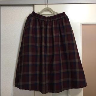 シマムラ(しまむら)のリバーシブル チェックスカート(ひざ丈スカート)